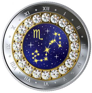 2019 - $5 - Pièce en argent pur rehaussée de cristaux SwarovskiMD - Signes du zodiaque : Scorpion