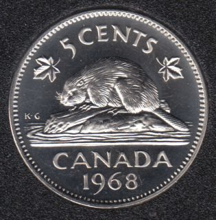 1968 - Proof Like - Canada 5 Cents