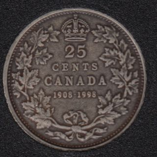 1998 - 1908 - Proof - Silver - Canada 25 Cents