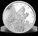 2014 - $125 - Pièce de un demi-kilogramme en argent fin - L'appel du loup