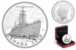 2016 - $20 - 1 oz. Fine Silver Coin – The Canadian Home Front: Patrol Against U-boats