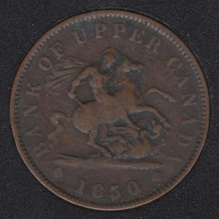 P.C. 1850 Bank of Upper Canada Penny PC-6A2