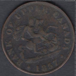 P.C. 1857 Bank of Upper Canada Half Penny - PC-5D