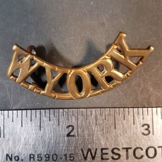 #147 West Yorkshire Regiment (W.YORK) Shoulder Title