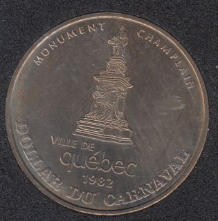 Quebec - 1982 Carnival of Quebec - Eff. 1969 / Monument de Champlain - Trade Dollar