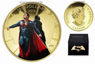 2016 - $100 - 14-Karat Gold Coin – Batman v Superman: Dawn of JusticeTM