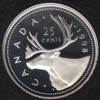1998 - Proof - Silver - Canada 25 Cents