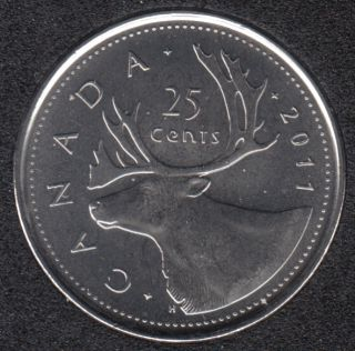 2011 - B.Unc - Canada 25 Cents