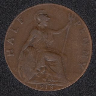 1918 - Half Penny - Great Britain