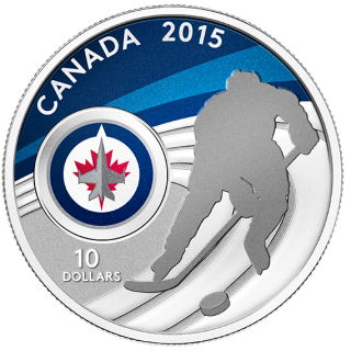 2015 - $10 - 1/2 oz. Fine Silver Coin - Winnipeg Jets™