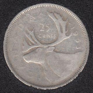 1953 - SD SF - Canada 25 Cents