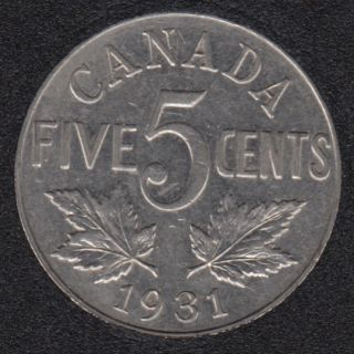 1931 - EF - Canada 5 Cents