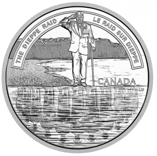 2018 - $20 - 1 oz. Pure Silver Coin - The Dieppe Raid