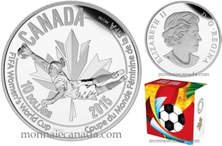 2015 - $10 - 1/2 oz. Fine Silver Coin - FIFA Women's World CupTM/MC : The Goalie