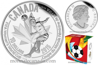 2015 - $10 - 1/2 oz. Fine Silver Coin - FIFA Women's World CupTM/MC : Heading the Ball