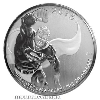 2015 - $20 Dollars - Superman DC Comics MC Argent fin