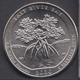 2020 D - B.Unc - Salt River Bay - 25 Cents