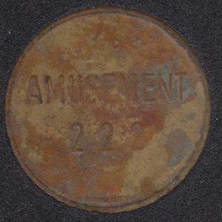 Arcade - Amusement 222 - No Cash Value - Gaming Token
