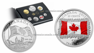 2015 - Special Edition Silver Dollar Proof Set - 50th Anniversary of the Canadian Flag