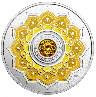2018 - $5 - November Birthstone - Pure Silver Coin made with Swarovski® Crystal