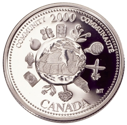 2000 Canada 25 Cents Sterling Silver Proof - Community