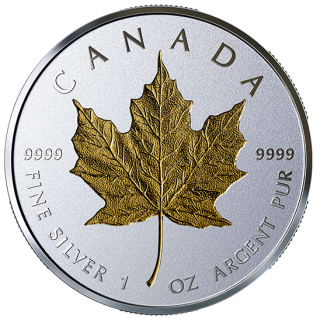 2019 - $20 - 1 oz. Pure Silver Coin - 40th Anniversary of the Gold Maple Leaf