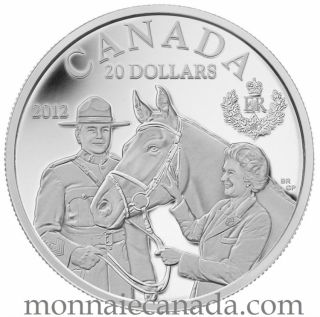 2012 - $20 - Fine Silver Coin - The Queen Visit to Canada