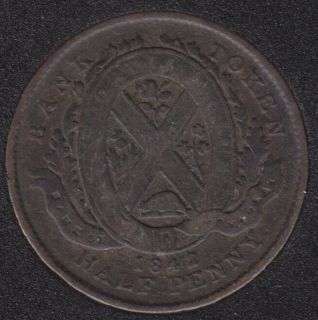 P.C. 1842 Semi Regal Token Banf of Montreal View PC-1A2