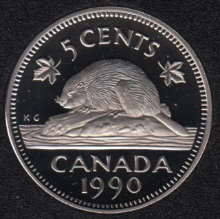 1990 - Proof - Canada 5 Cents