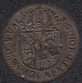 1793 - 1/2 Batzen - Swiss canton Neuchatel - VF/EF - Suisse