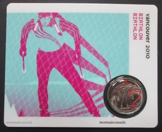 2010 - 25 cents - Vancouver – Biathlon Circulation Sport Cards
