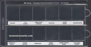 Pochette de Vinyle Uni-Safe 25 Cents Commémoratif (12) - Sport