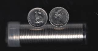 1967 Canada 5 Cents - Roll 40 Coins in Plastic Tube - B.UNC