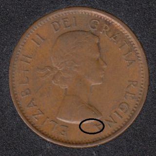 1961 - Dot on A - Canada Cent
