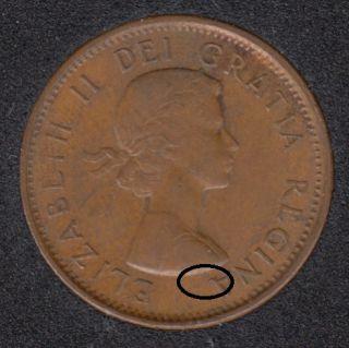 1961 - Dot sur A - Canada Cent