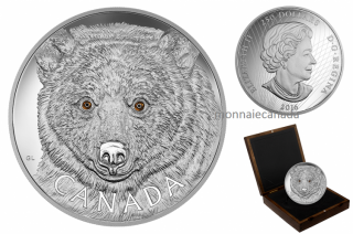 2016 - $250 - Fine Silver One-Kilogram Coin – In the Eyes of the Spirit Bear