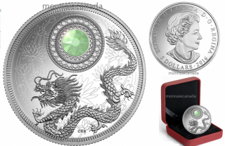 2016 - $5 - Pure Silver Coin made with Swarovski® crystal – Birthstones: October