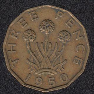 1950 - 3 Pence - Grande Bretagne