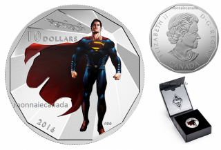 2016 - $10 - 1/2 oz. Fine Silver – Batman v Superman: Dawn of JusticeTM - Superman