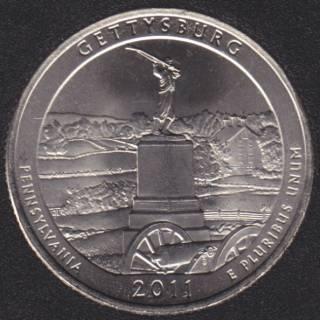 2011 P - Gettysburg - 25 Cents