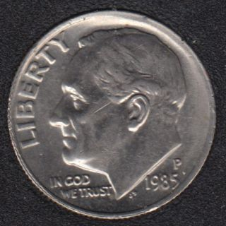 1985 P - Roosevelt - B.Unc - 10 Cents