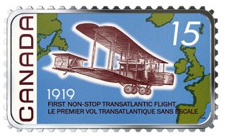 2019 - $20 - 1 oz. Pure Silver Coloured Coin - 100th Anniversary of the First Non-Stop Transatlantic Flight