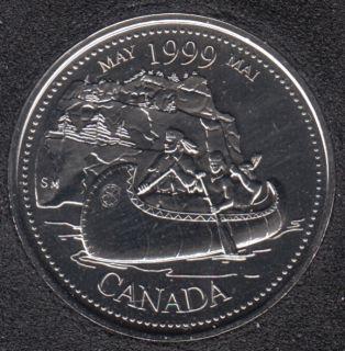 1999 - #5 NBU - Mai - Canada 25 Cents