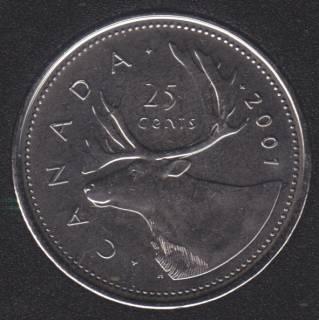 2001 P - B.Unc - Canada 25 Cents
