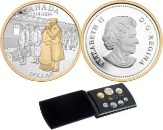 2014 - Fine Silver Proof Set - 100th Anniversary of the Declaration of the First World War