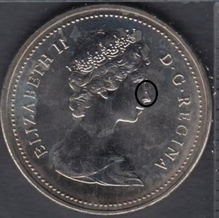 1986 - B.Unc - Dot on Nose - Canada 5 Cents