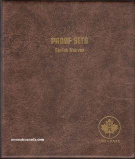 Uni-Safe Coin Album Canada Proof Sets / Mint Sets