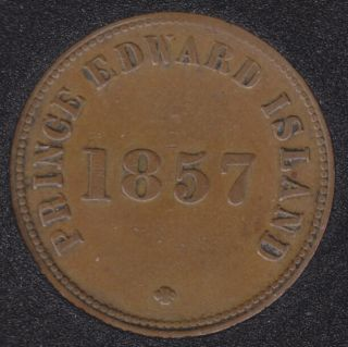 P.E.I. 1857 Self Government and Free Trade - Rotated Dies - PE-7C1