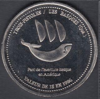 Trois-Pistoles / Les Basques - 1997 - 300° Ann. de Trois-Pistoles - (3 Pistoles) $1 Trade Dollar