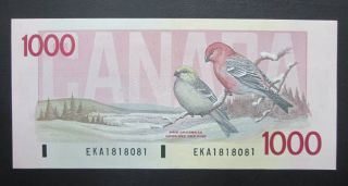 1988 $1000 Dollars - Thiessen Crow - Prefix EKA - Bank of Canada